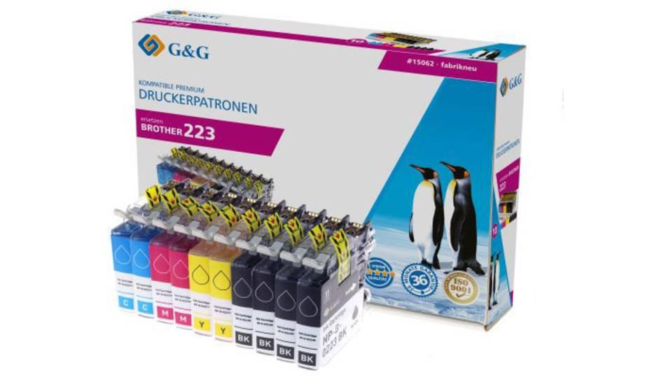 G&G Tinte ersetzt Brother LC-223 Kompatibel 10er-Pack Schwarz, Cyan, Magenta, Gelb 15062