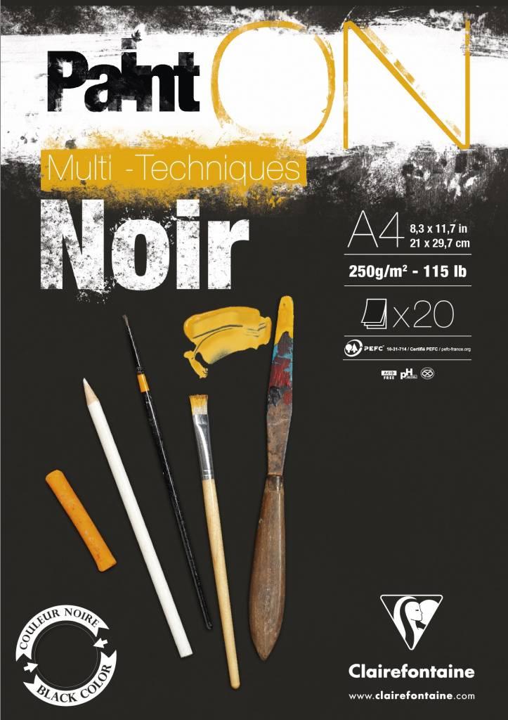 Vorschau: Clairefontaine 975169C PaintOn Block (250 g, DIN A4, 21 x 29,7 cm, geleimt, 20 Blätter, ideal für we