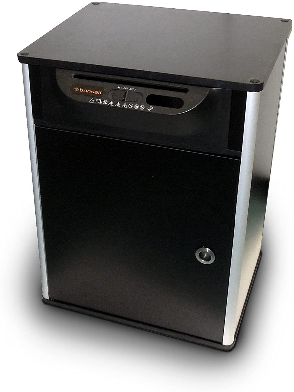 Bonsaii 510910 Docshred   Druckertisch Aktenvernichter  Partikelschnitt   7 Blatt  10 Liter   4x20 m