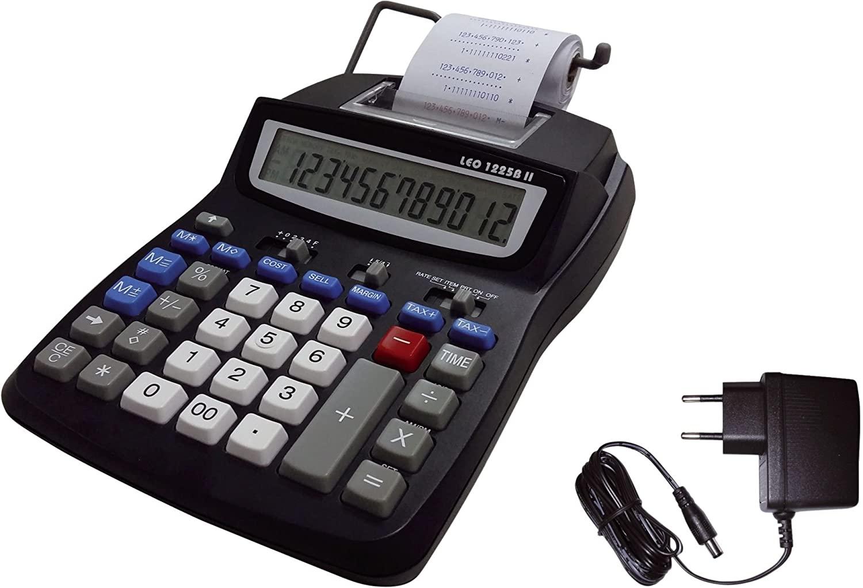 LEO 1225E II schwarz Tischrechner druckend inkl. Netzteil - 12-stellig