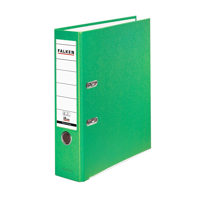 Falken Ordner 8cm PP-Color Kunststoff-Ordner breit DIN A4 HELLGRÜN 11286739 Ringordner Aktenordner B
