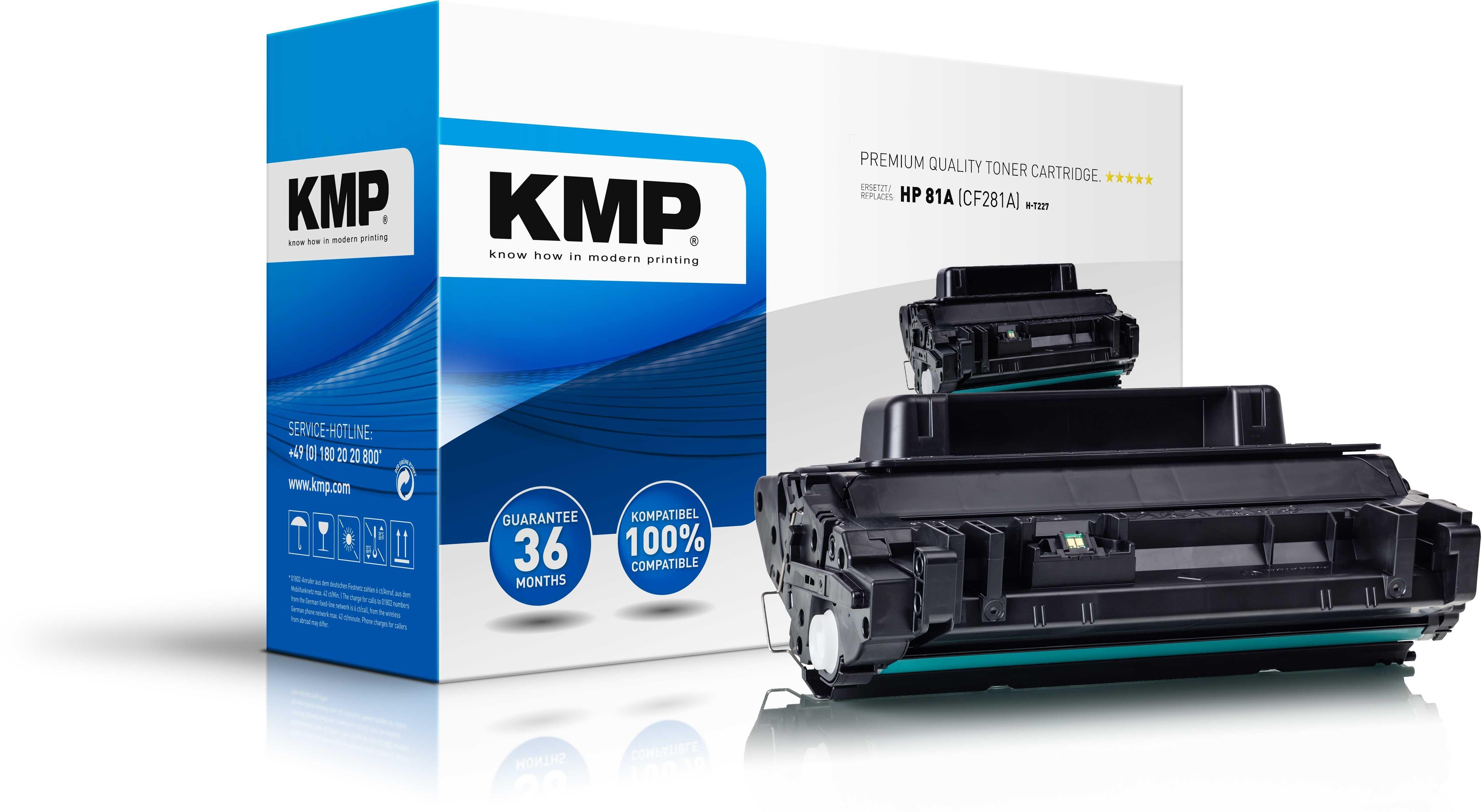 KMP Toner H-T227  für HP 81A Laserjet Enterprise M604-Serie etc. black