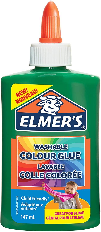 Elmer's farbiger PVA-Kleber | grün | 147 ml | auswaschbar | ideal zur Herstellung von Schleim | 1 St