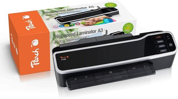 Peach PL900 Highspeed Laminiergerät DIN-A3|startklar in nur 60 Sekunden|geeignet für handelsübliche