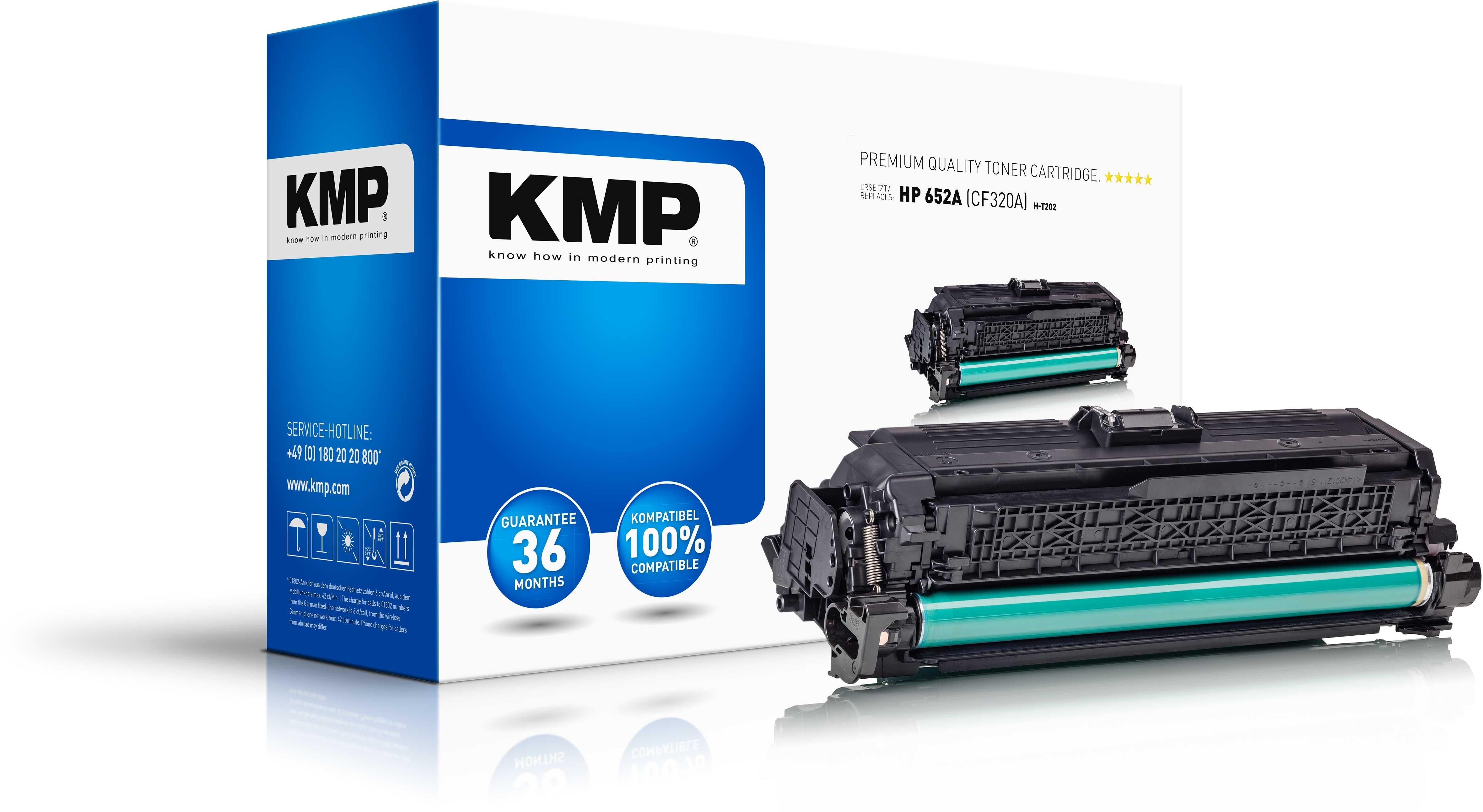 KMP Toner  H-T202 für HP 652A (CF320A) Color LaserJet Enterprise M651 etc. schwarz