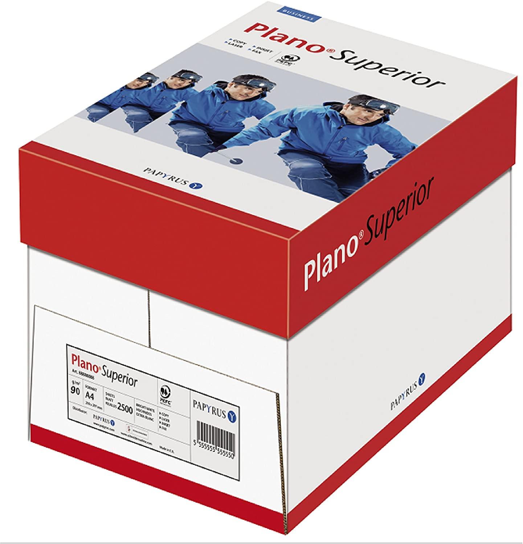 Papyrus 88026780 Druckerpapier PlanoSuperior 90 g/m², A4, 5x500 Blatt, hochweißes Premium Kopierpapi