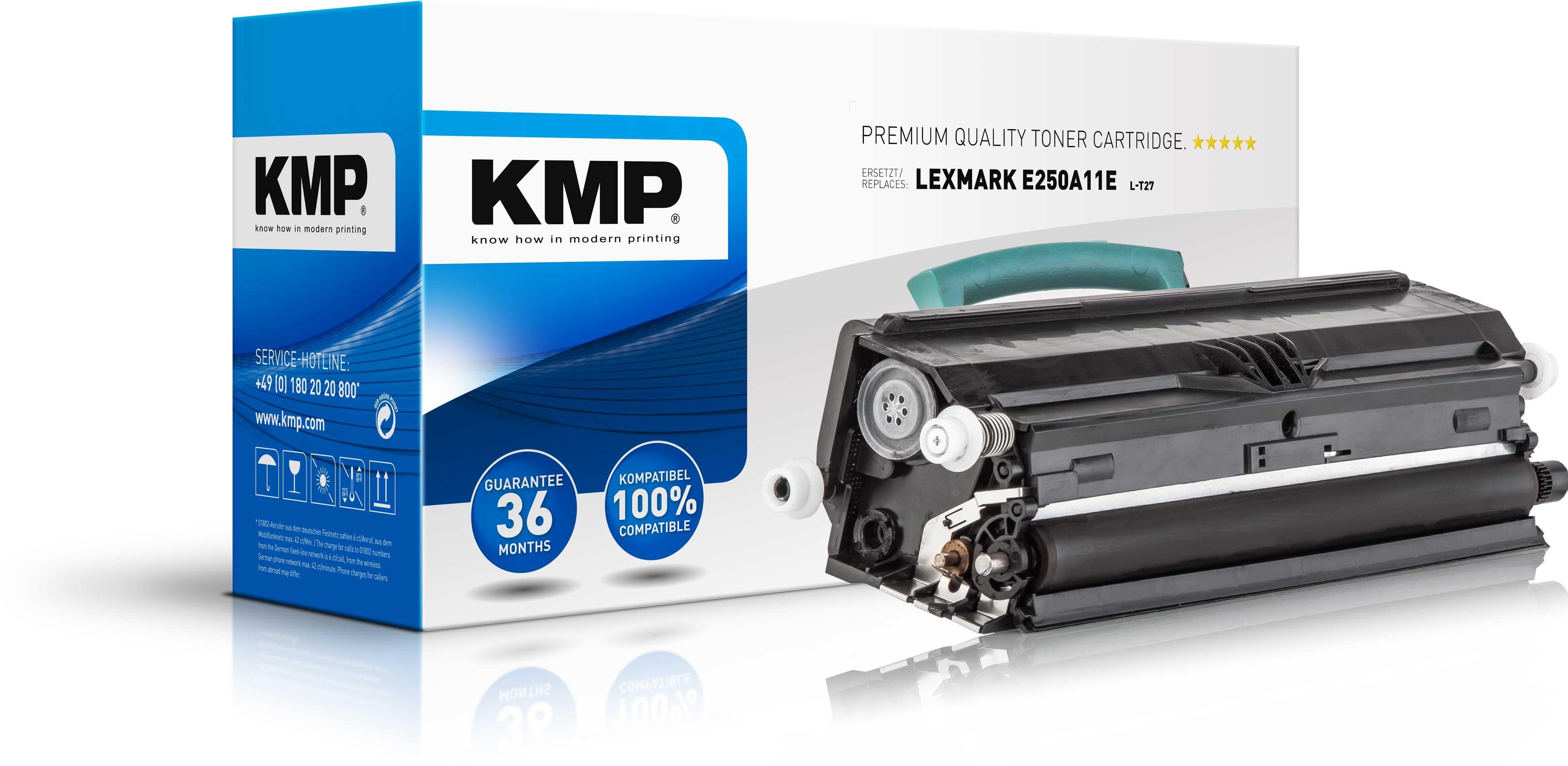 KMP Lexmark Toner für E250A11E E250 / E350 schwarz L-T27