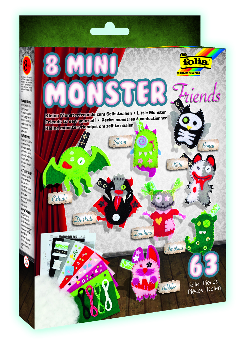 Folia Mini Monster Friends