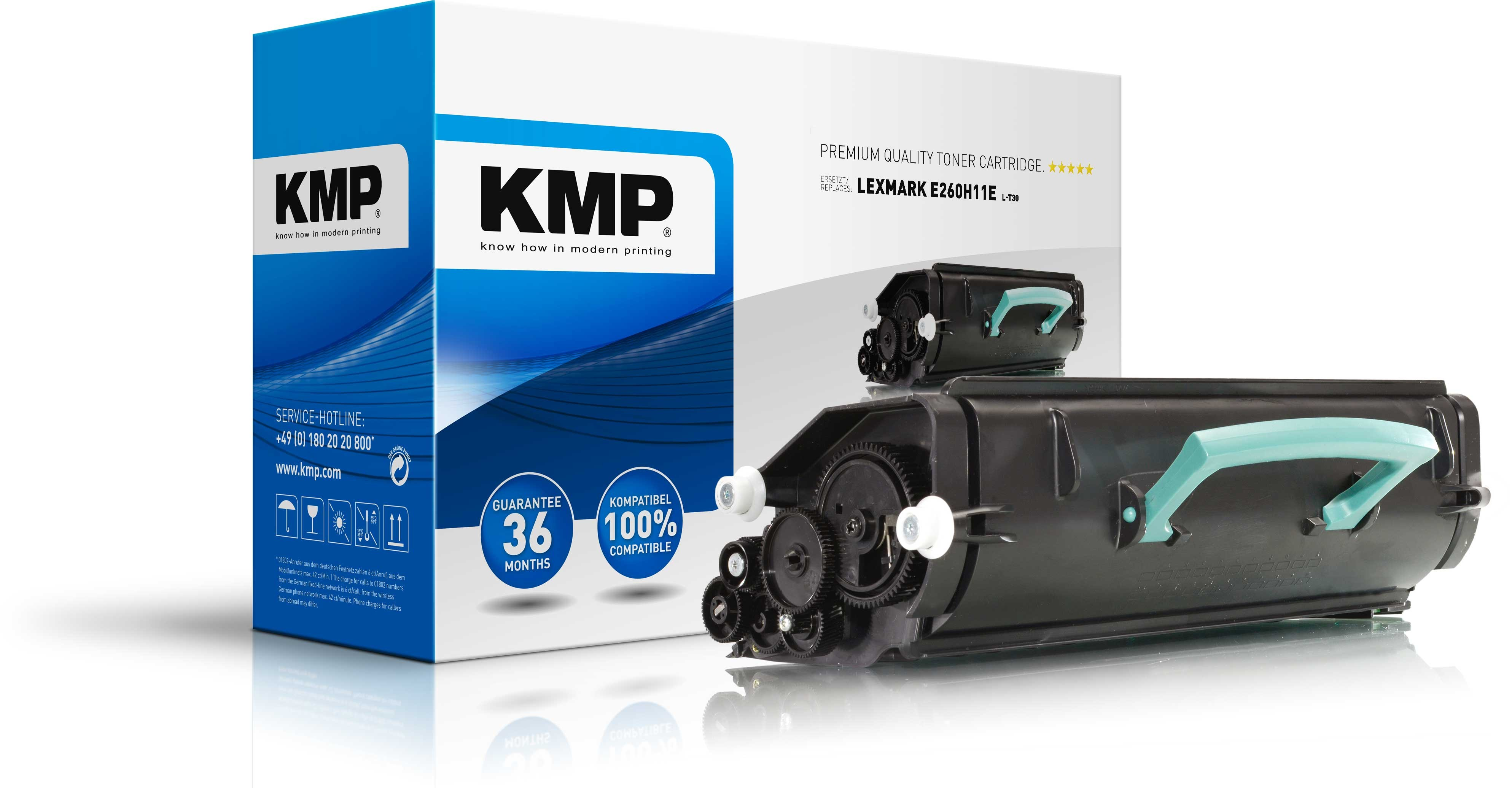 KMP Lexmark Toner für E260A11E E260 / E360 / E460 schwarz L-T30