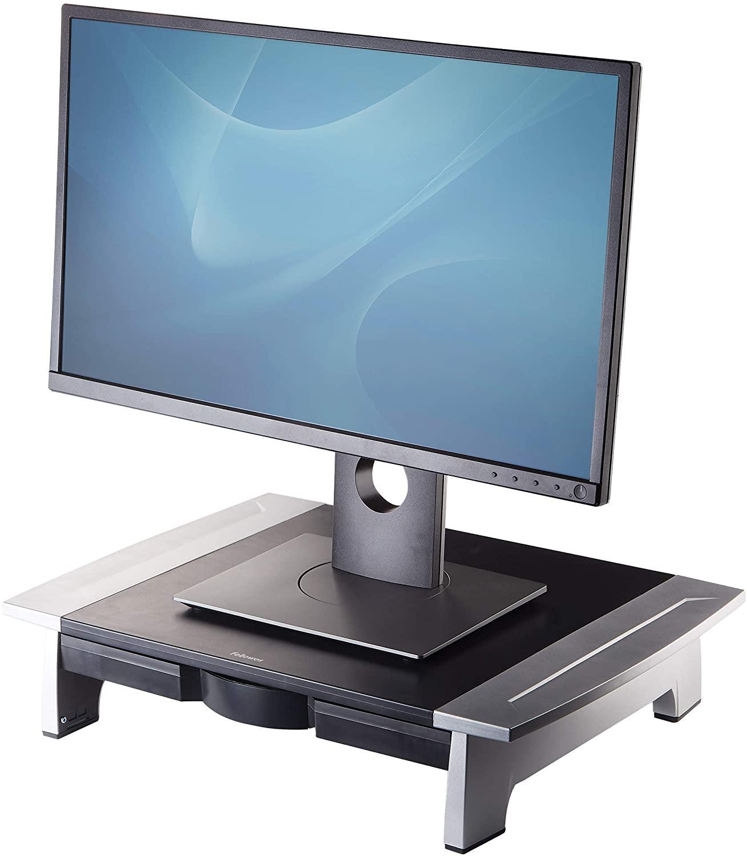 Fellowes Monitorständer Office Suites, höhenverstellbar zwischen 107 und 159 mm, ergonomisch, für Mo