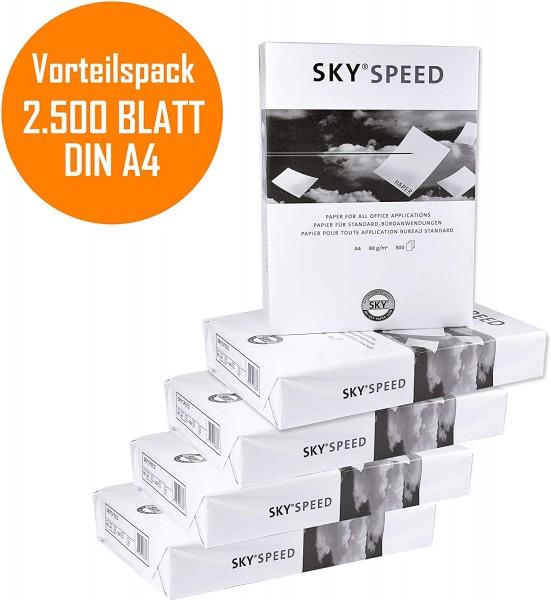 VORTEILSPACK Universal Kopierpapier Druckerpapier DIN A4 Sky Speed 2500