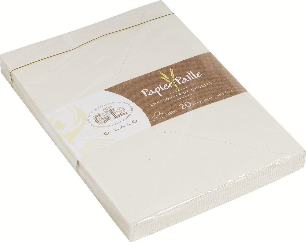 G.Lalo 20616L Umschläge Strohpapier (perfekt für Ihre Einladungen, säurefrei, Format C5, 22,90 x 16,
