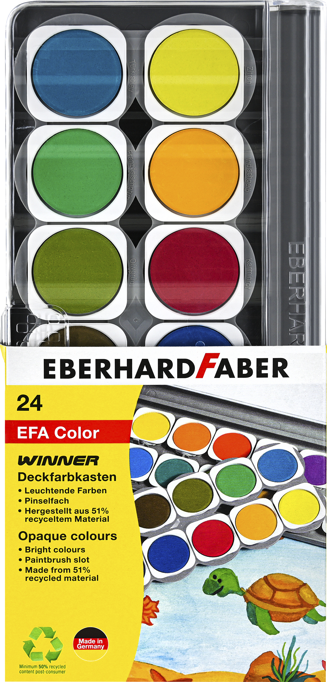 EberhardFarber Deckfarbkasten/Malkasten WINNER 24er