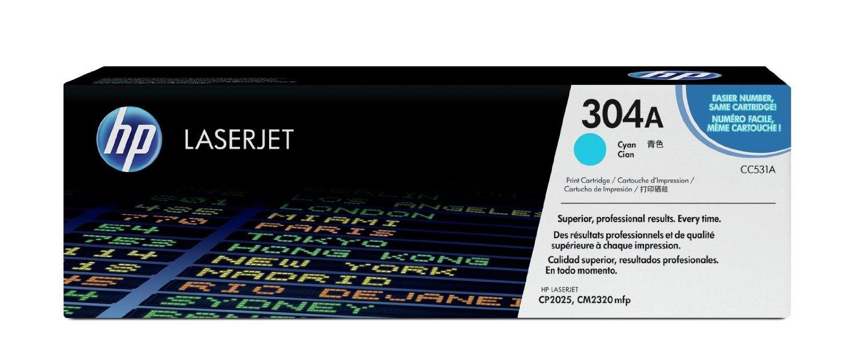 Vorschau: Original HP Toner CC531A für COLOR LASERJET CP2025 CP2320 cyan