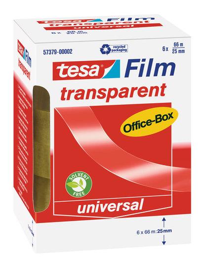 tesa transparent Office-Box 66m x 25mm 6 Rollen