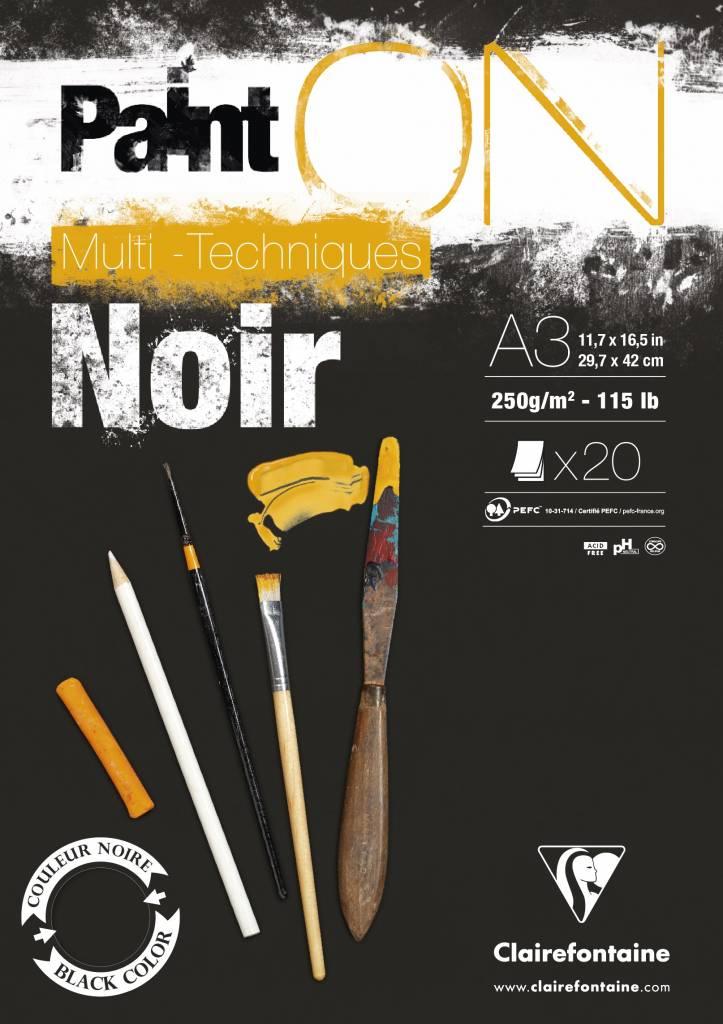 Vorschau: Clairefontaine 975704C PaintOn Block (250 g, DIN A3, 29,7 x 42 cm, geleimt, 20 Blätter, ideal für we