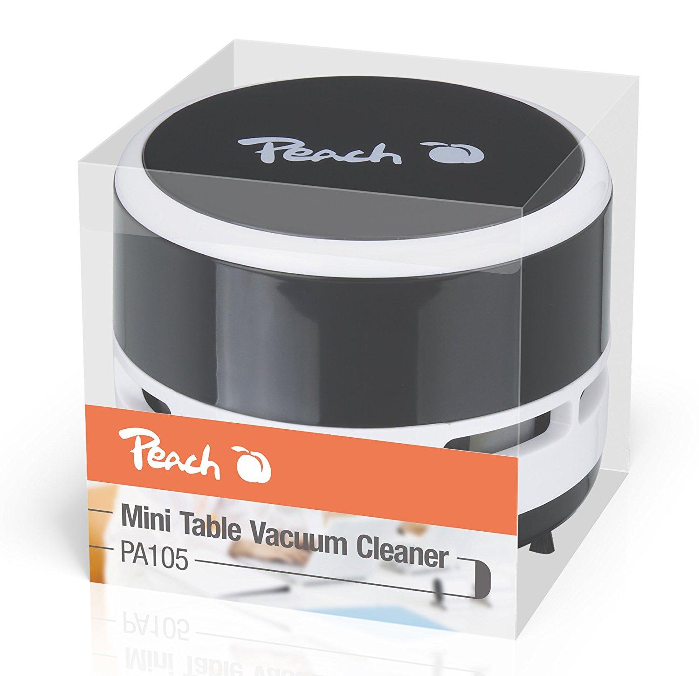Peach Mini Tisch Staubsauger PA105 schwarz