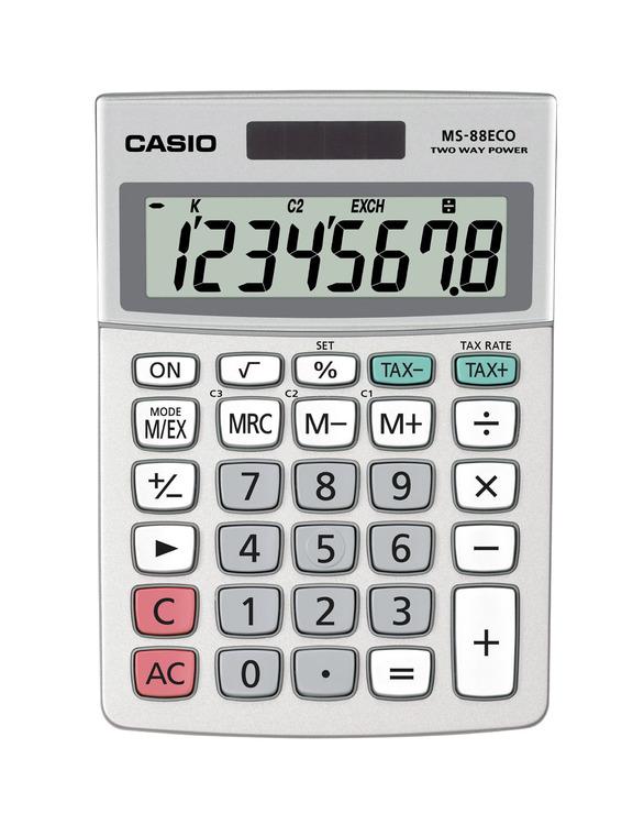 Casio® Öko-Tischrechner MS-88 ECO