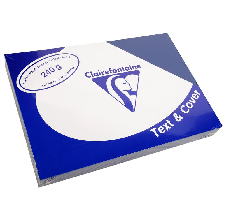 Clairefontaine Ledergeprägtes Papier 240 g/m² DIN-A4 Saphirblau 100 Blatt