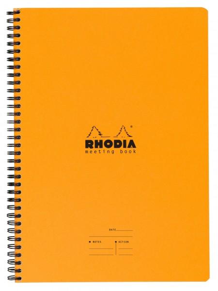 Rhodia 19340C Meeting Book mit Doppelspirale A4+ 22,5x29,7cm 80Bl 90g - Sortiert