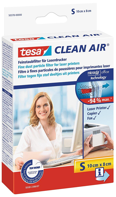 tesa Clean Air Feinstaubfilter für Laserdrucker S (10x8cm)