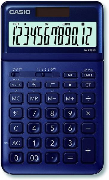 Casio JW-200SC-NY eleganter Tischrechner, 12-stellig, in sieben Farbvarianten