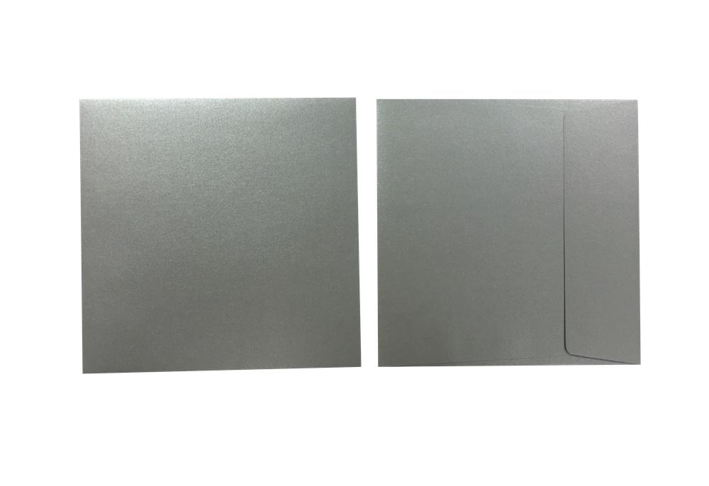 Inapa Shyne Umschläge Quadro Grey Silver 120g/m² 100 Stück