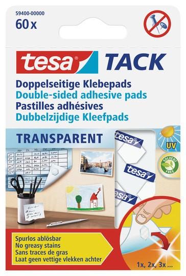 tesa Doppelseitige Klebepads 60 Pads