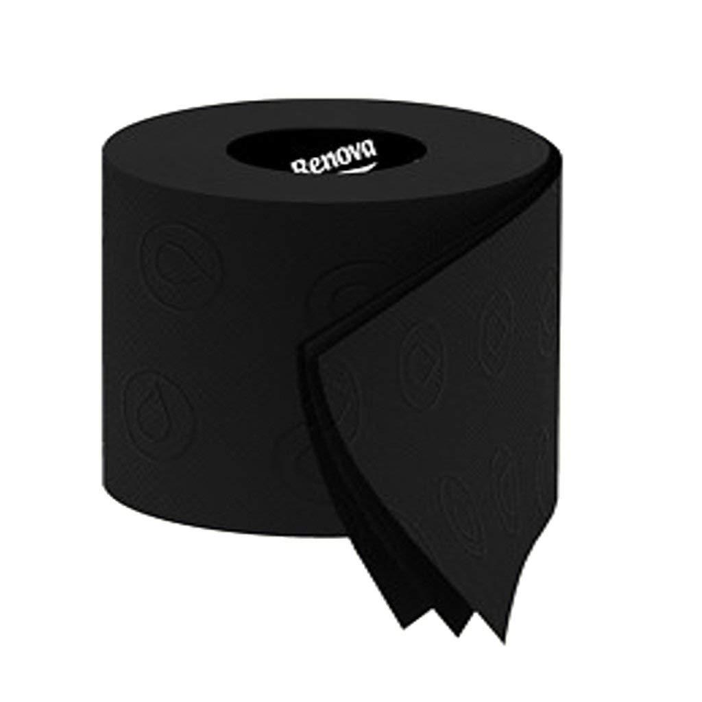 Schwarzes Toilettenpapier