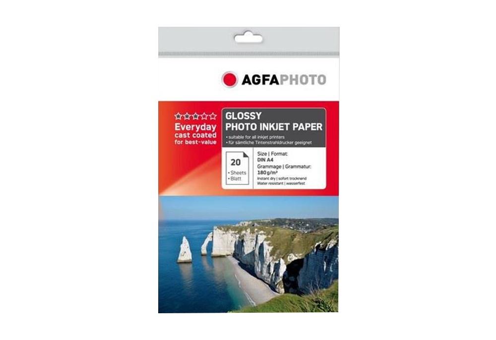 AGFA Photo Fotopapier glänzend 180 g/m² 20 Blatt DIN-A4