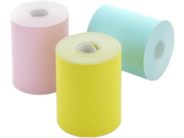 CUBINOTE HOME Thermonotizpapierrolle 3 Rollen gelb/pink/blau NICHT haftend ca. 800 Ausdrucke