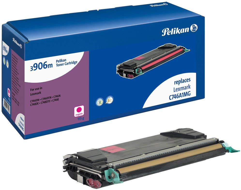Pelikan Toner ersetzt Lexmark C746A1MG, Magenta, 7000 Seiten