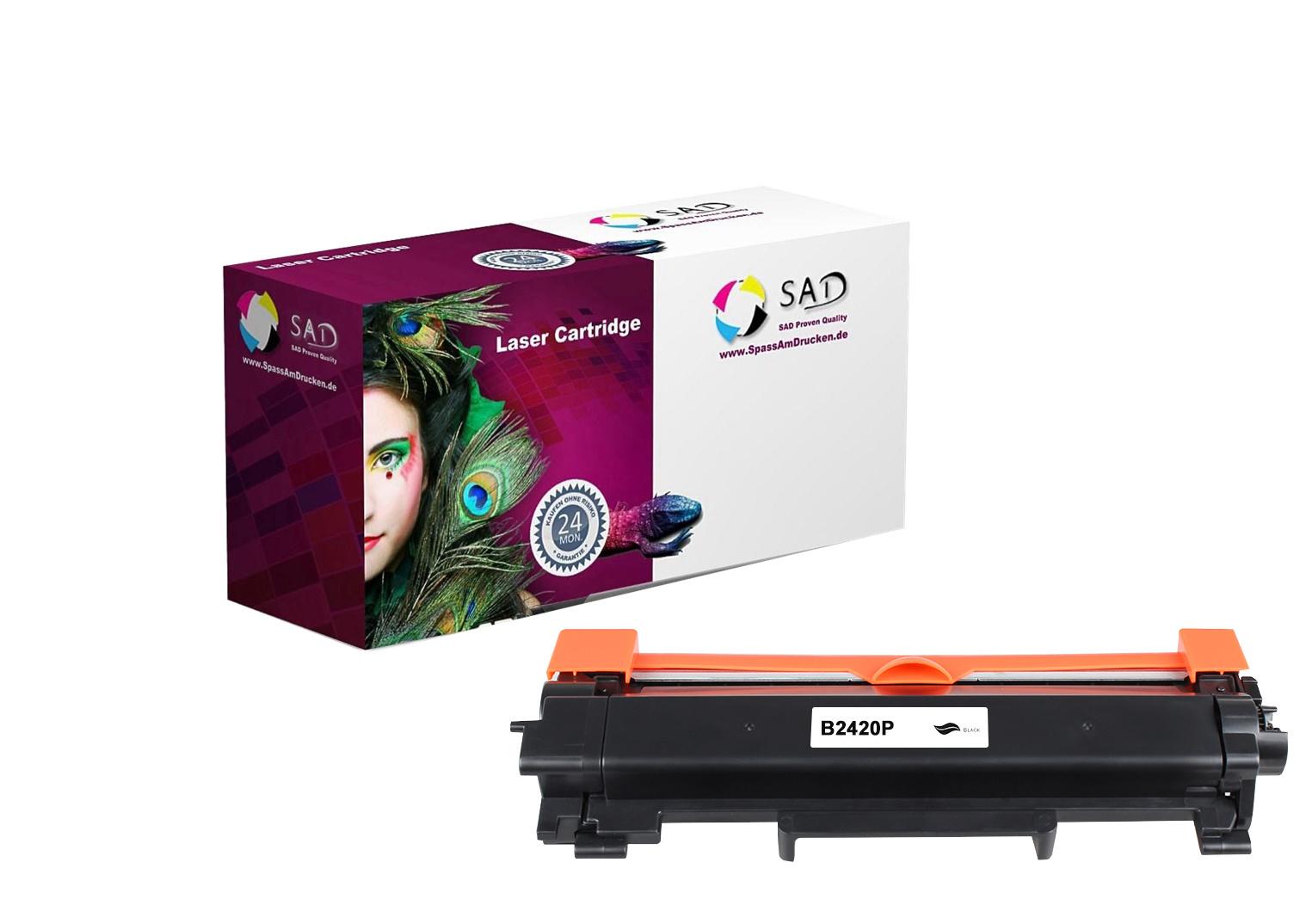 SAD Premium Toner komp. mit Brother TN-2420 schwarz / black mit Chip