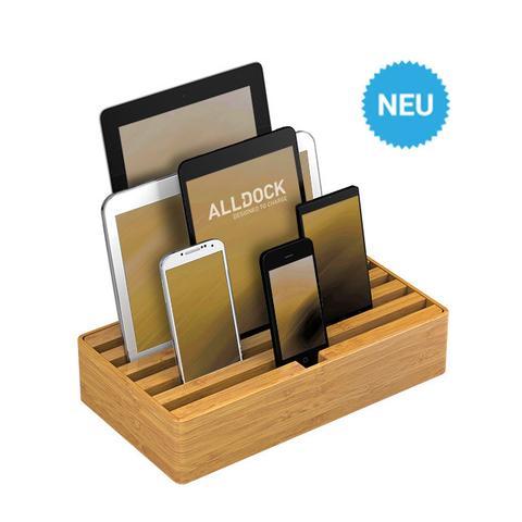 Ladestation ALLDOCK BAMBOO 2.0 6-fach USB