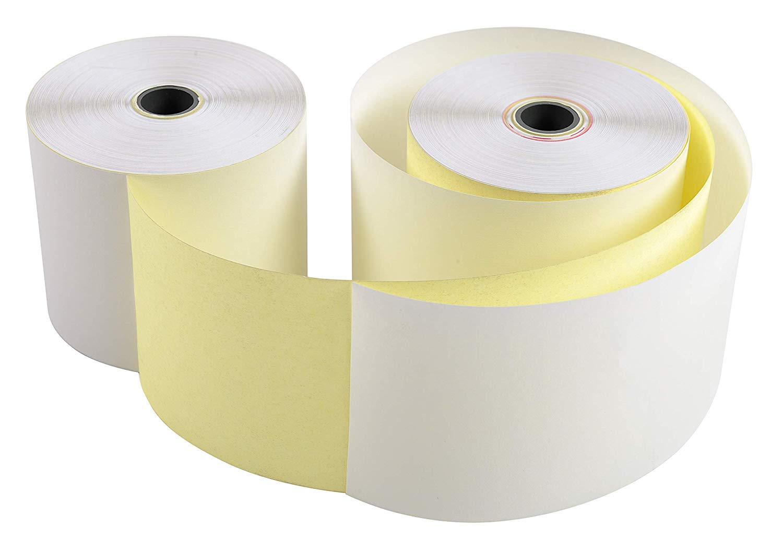 10x EXACOMPTA Bonrollen 2-lagig selbstdurchschreibendes Papier 57g/m² 57mm x 25m x 70mm - 40354E