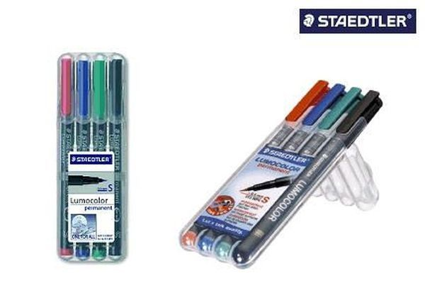 Staedtler® Feinschreiber Universalstift Lumocolor permanent, S, Box mit 4 Farben