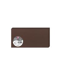 Clairefontaine 21542C Packung mit 25 Doppelkarten, gefaltet 210g, in Format DL, 106 x 213mm, Kakao