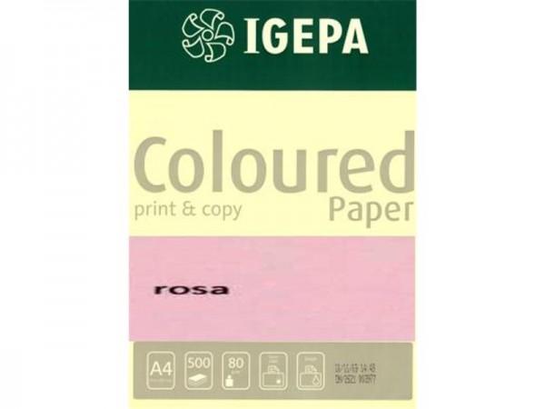Igepa Coloured Paper Pastell rosa 80g/m² DIN-A4 - 500 Blatt