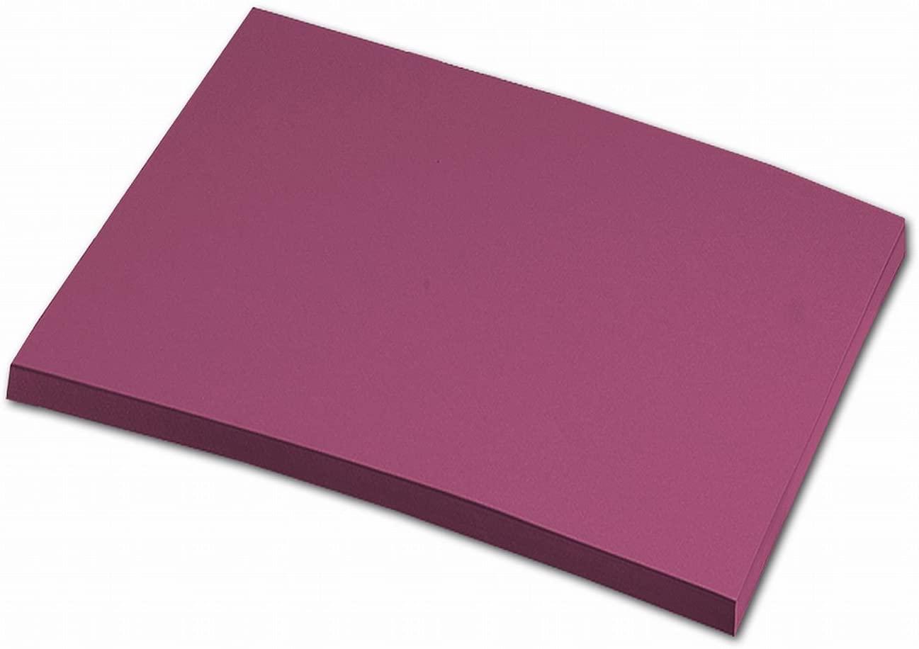 folia 6427 - Tonpapier weinrot, DIN A4, 130 g/qm, 100 Blatt - zum Basteln und kreativen Gestalten vo