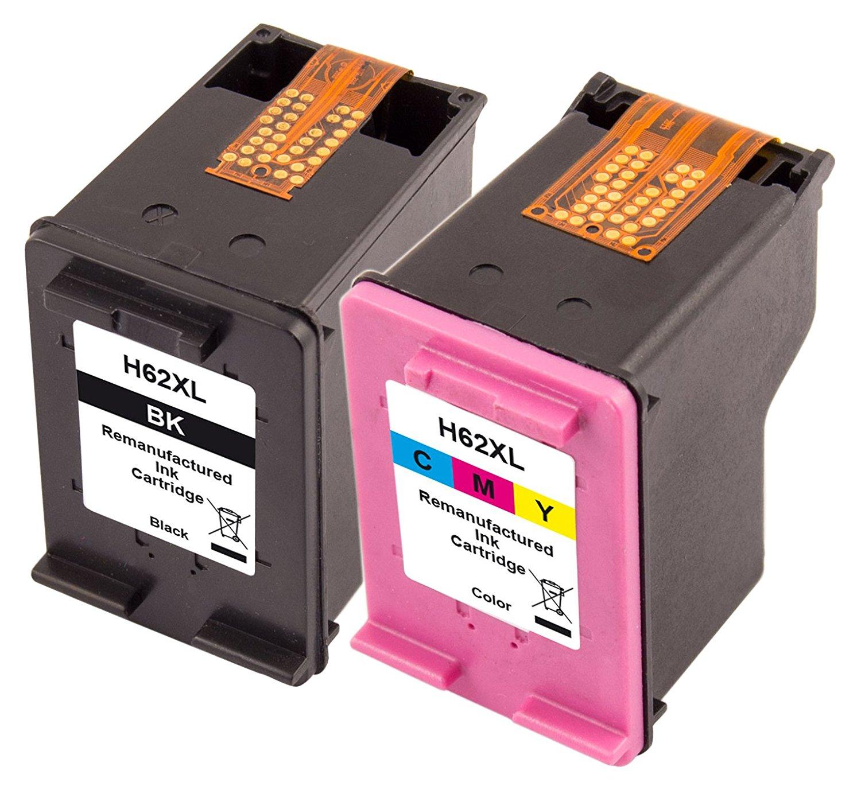 Peach Spar Pack Tintenpatronen für HP No. 62XL, C2P05AE, C2P07AE black + color PI300-671