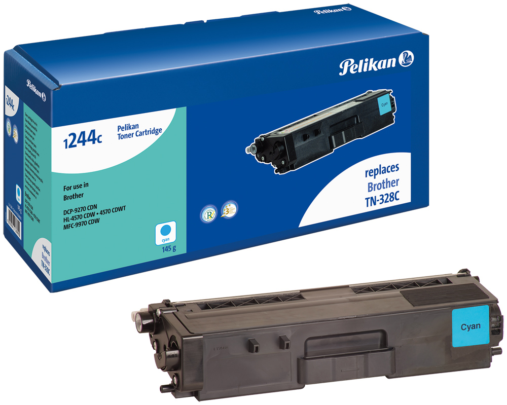 Pelikan Toner komp. zu TN-328C Brother DCP-9270 CDN etc. cyan