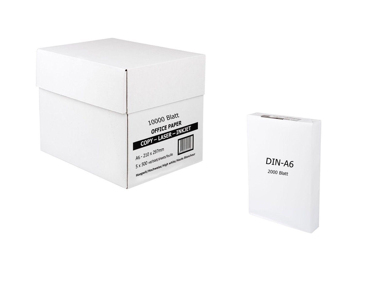 Marken Kopierpapier Papier 80g/m² DIN-A6 2000 Blatt