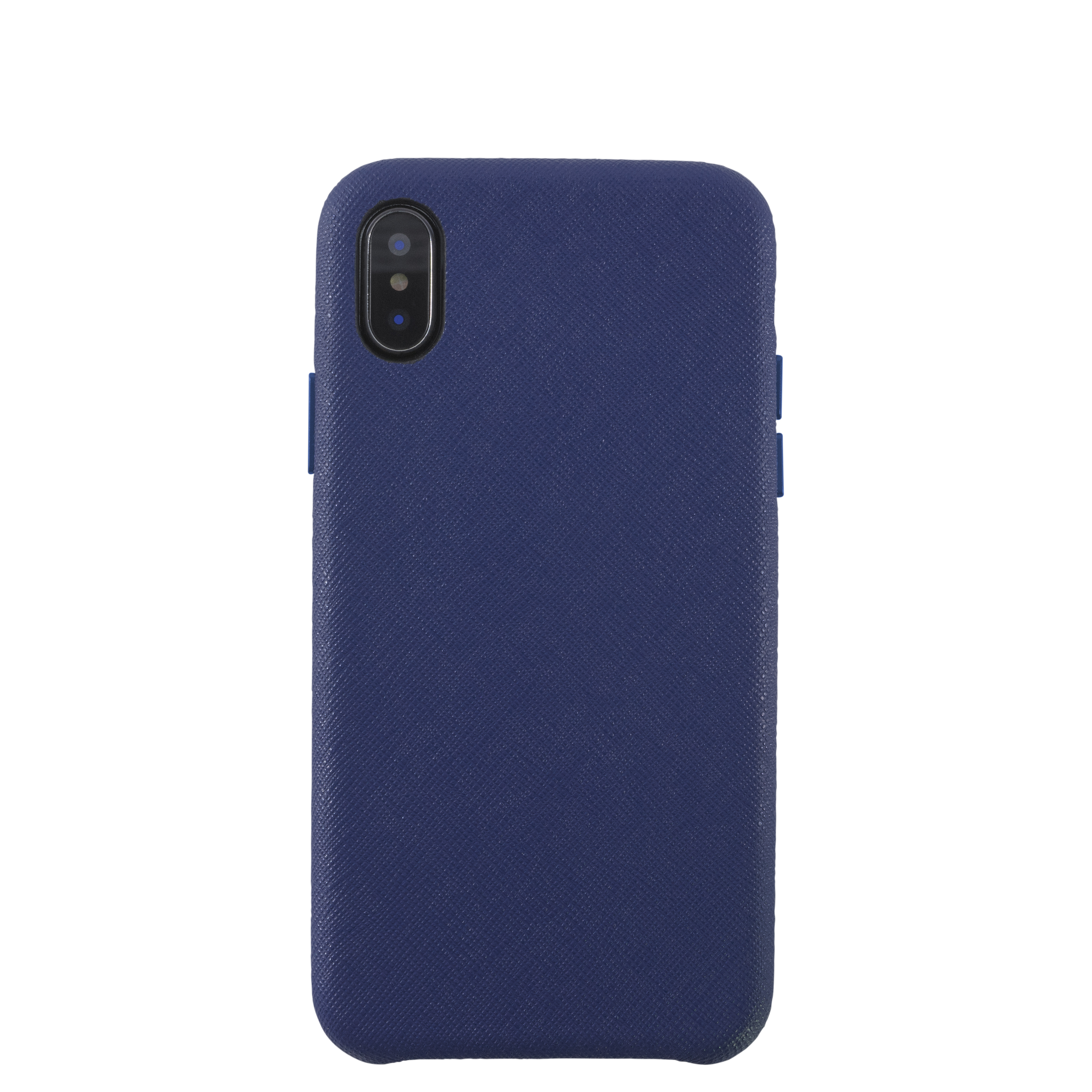 KMP Schutzhülle Leather Case für iPhone XS Max-sargasso blue