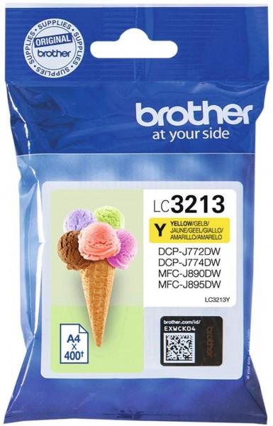 Brother Original Tintenpatrone LC-3213Y (gelb) (für Brother DCP-J772DW, DCP-J774DW, MFC-J890DW, MFC-