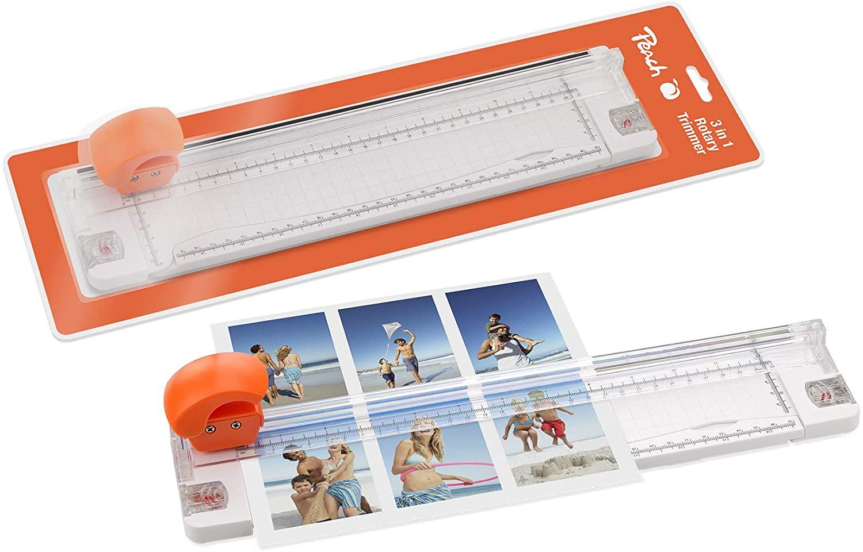 Peach PC200-15 | 3 in 1 Schneidemaschine | Rollenschneider | schneidet 5 Blätter (80g/m²) | Schneide