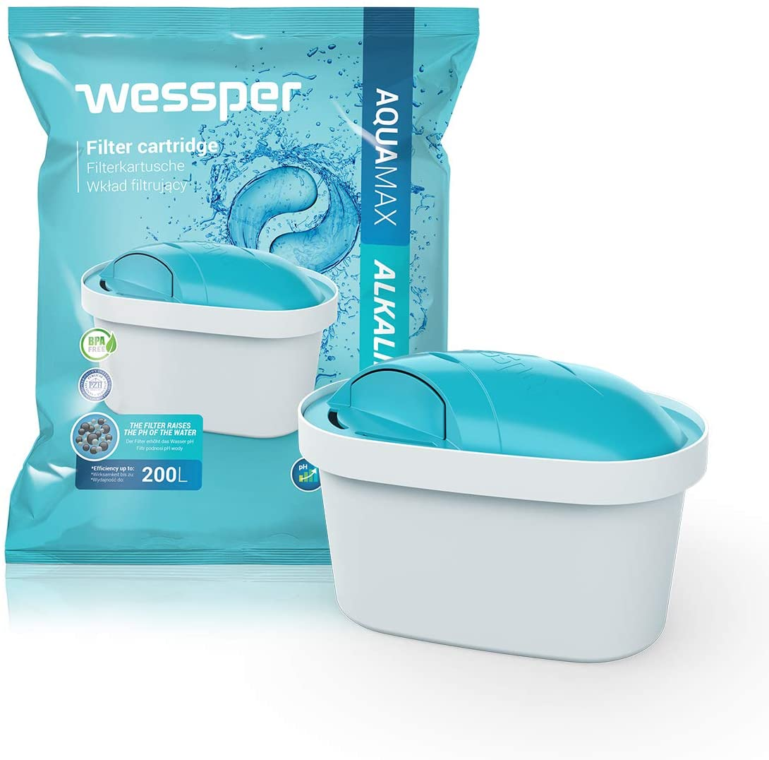 Wessper Alkalischer Wasserfilter Kartuschen Komp. mit BRITA Maxtra, PearlCo, AmazonBasics WES003-ALK