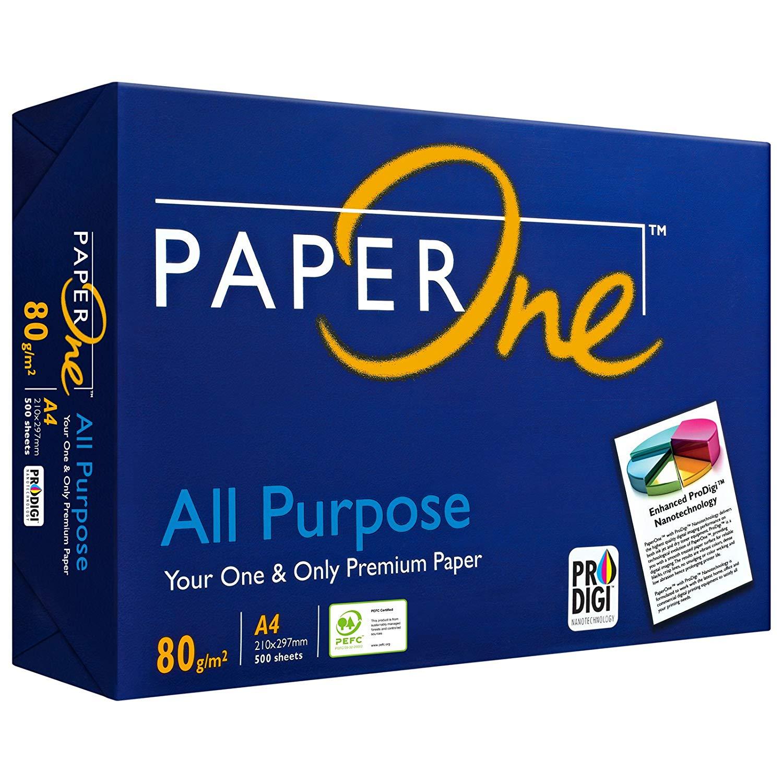 PaperONE ALL Purpose 80 g/qm A4 - 500 Blatt weiß Kopierpapier Druckerpapier Laserpapier SUPER QUALIT