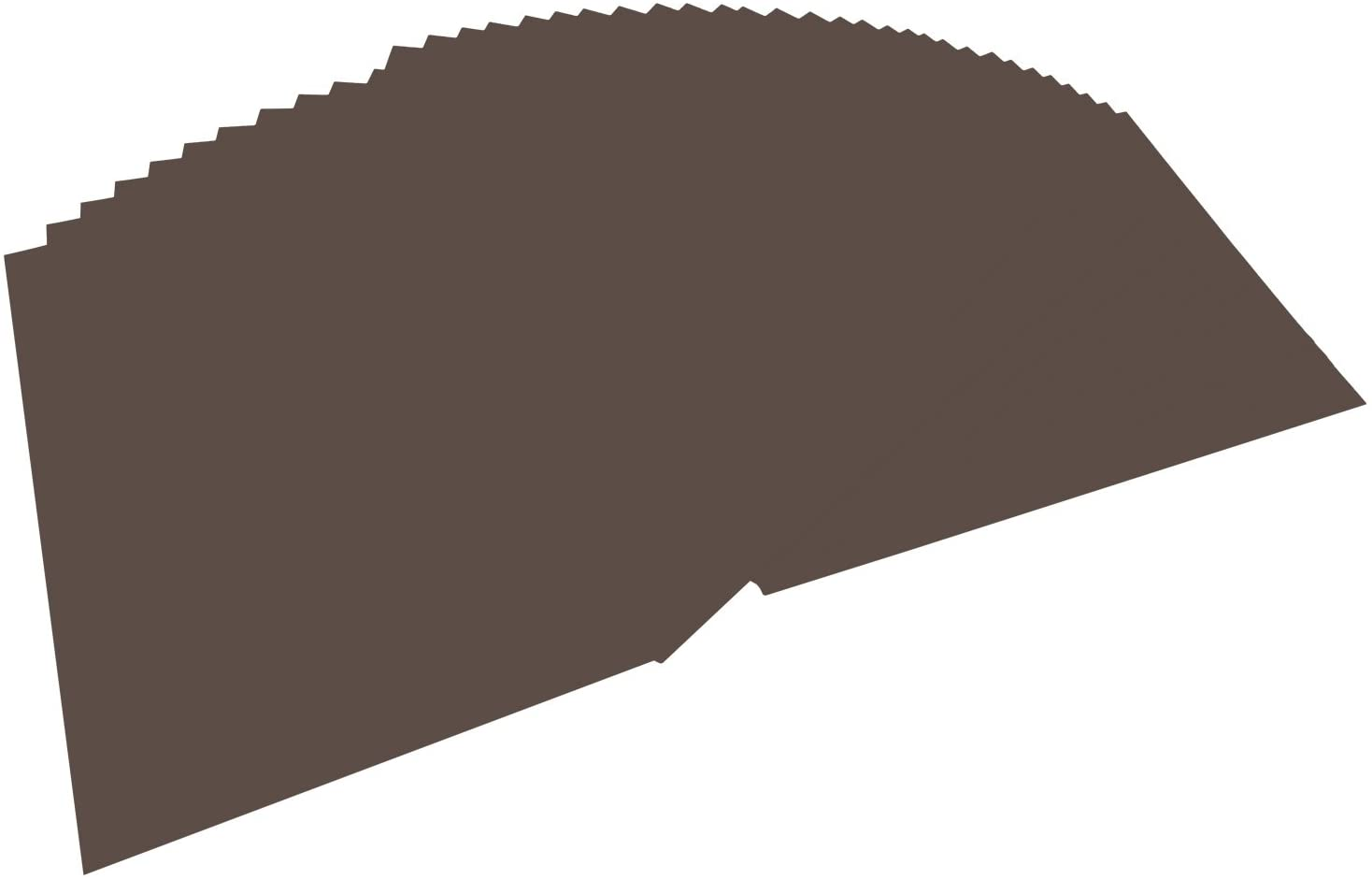 folia 6470 - Tonpapier dunkelbraun, DIN A4, 130 g/qm, 100 Blatt - zum Basteln und kreativen Gestalte