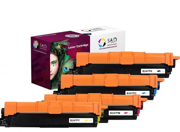 4er Pack SAD Premium Toner komp. zu Brother TN-247 BK C M Y