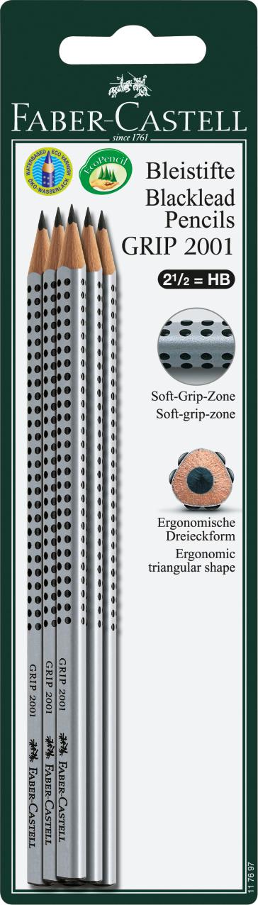 Faber-Castell Bleistifte GRIP 2001 HB 6x Blister